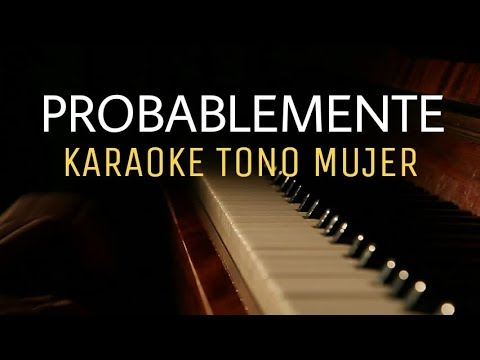Probablemente - Christian Nodal ft. David Bisbal - Karaoke Acustico tono mujer