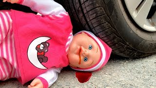 Crushing Crunchy & Soft Things by Car! EXPERIMENT CAR vs BABY (Toy)