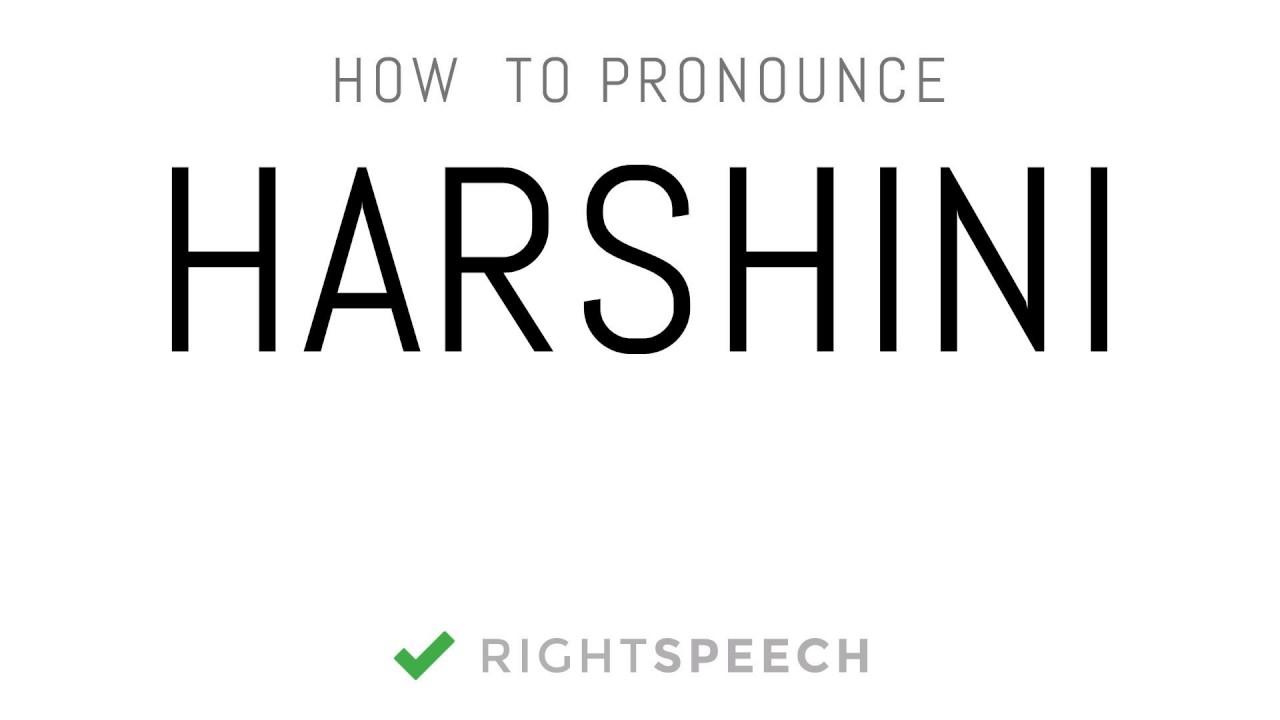 harshini name