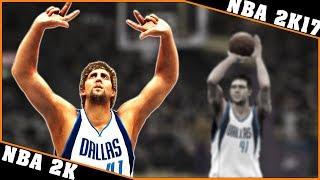 DIRK NOWITZKI gameplay [NBA 2K - NBA 2K17] 🏀