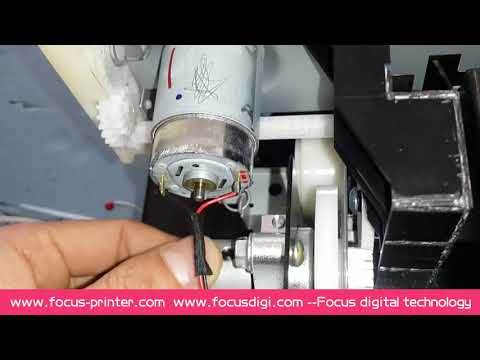 How to adjust th encoder for the A4 size UV printer ?