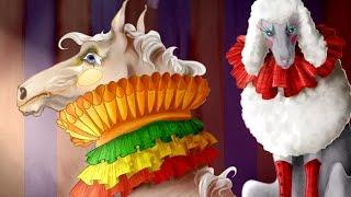 Цирковые животные - собака на лошади \ Circus animals - a dog on a horse speedpaint