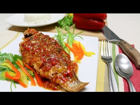 Thai Crispy Fish With Tamarind Sauce ปลาราดพริก - Episode 43