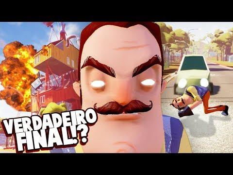 É ESTE O VERDADEIRO FINAL?! QUEIMAR A CASA DO VIZINHO!!! E MATÁ-LO! | Hello Neighbor