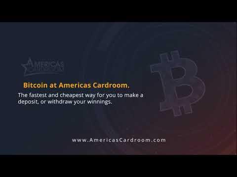 Americas Cardroom: Takes Bitcoin