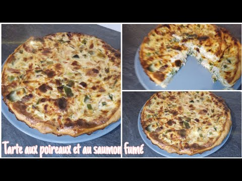 une-recette-trop-facile-🤩👍- -tarte-aux-poireaux-et-au-saumon-fumé