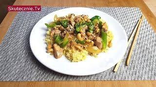 Chińszczyzna: obłędnie pyszny kurczak z papryką i nerkowcami (stir-fry) :: Skutecznie.Tv