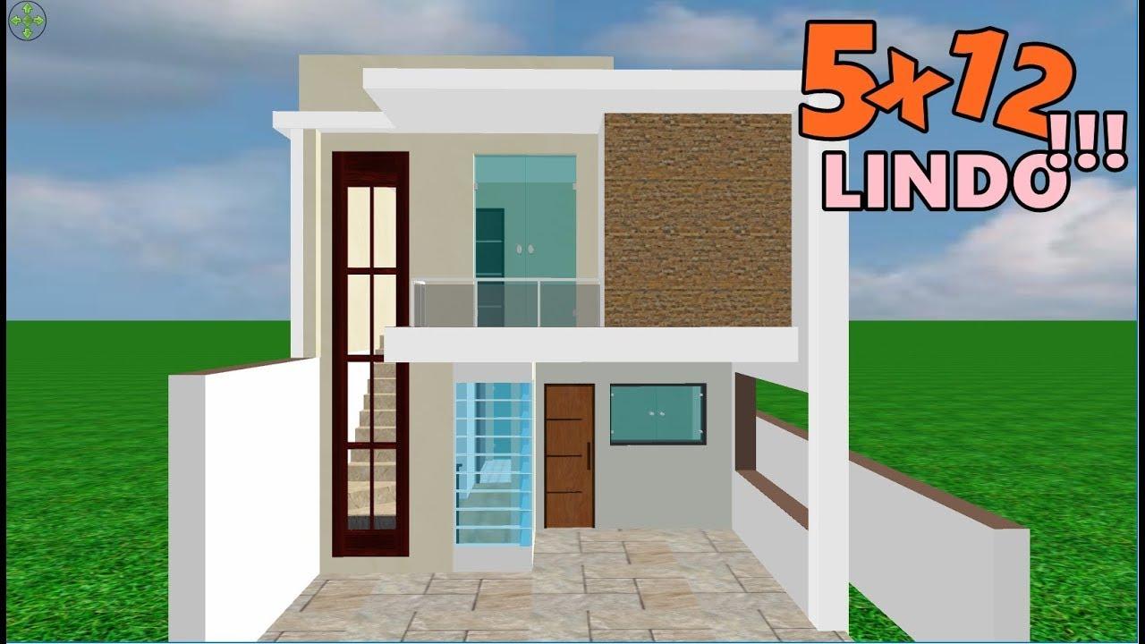 Download PLANTA 3D de sobrado pequeno 5x12