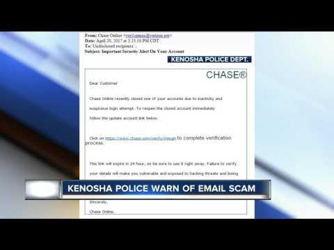 Kenosha police warn residents of email scam