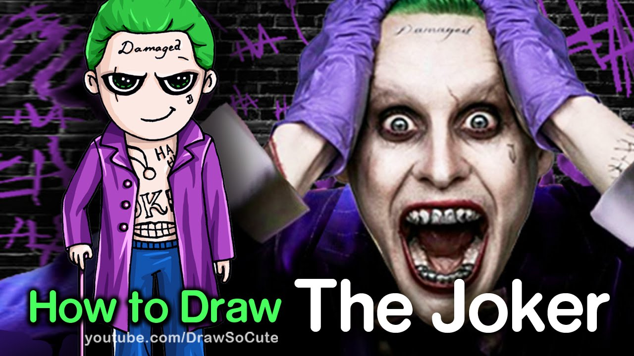 How To Draw Suicide Squad The Joker Chibi Youtube