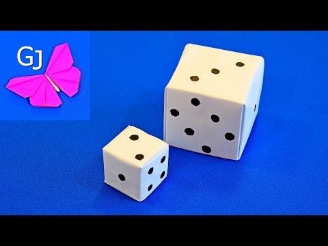Оригами из бумаги ИГРАЛЬНЫЙ КУБИК