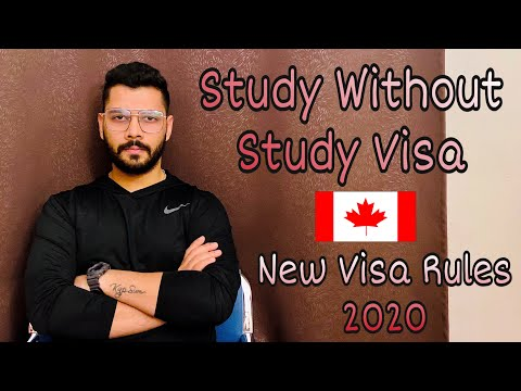 Study Without Study Visa For Canada||Big Update||New Visa Rules 2020||Hindi