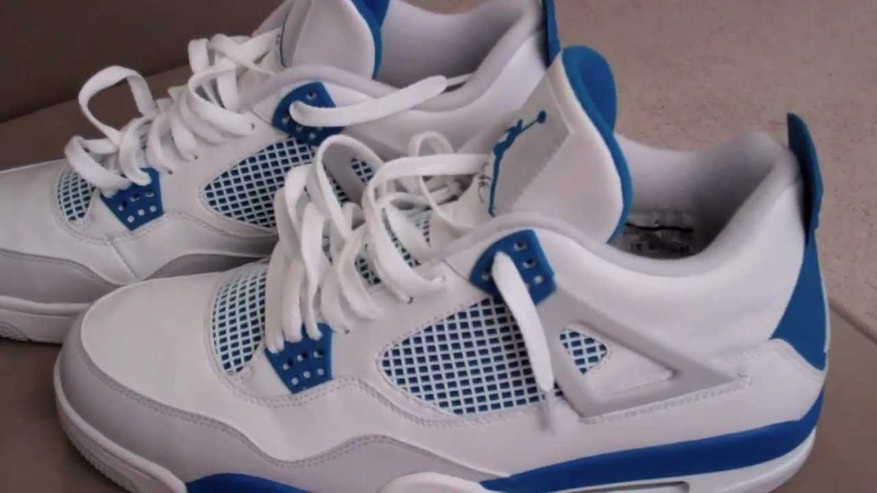 huge selection of a2f20 1e64a Shoe pickup: 2012 Jordan 4 Retro Military Blue with on feet footage