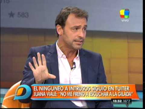 Jorge Rial le respondió en Twitter a Juanita Viale los mensajes rabiosos