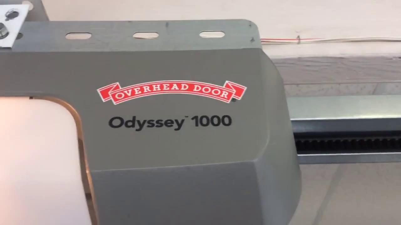 odyssey 1000 garage door opener remote programming