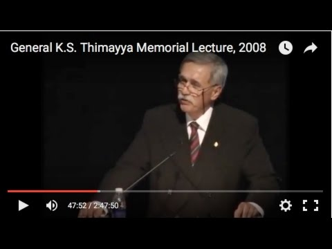 The 4th General K.S. Thimayya Memorial Lecture, 2008--Philip Wollen, OAM
