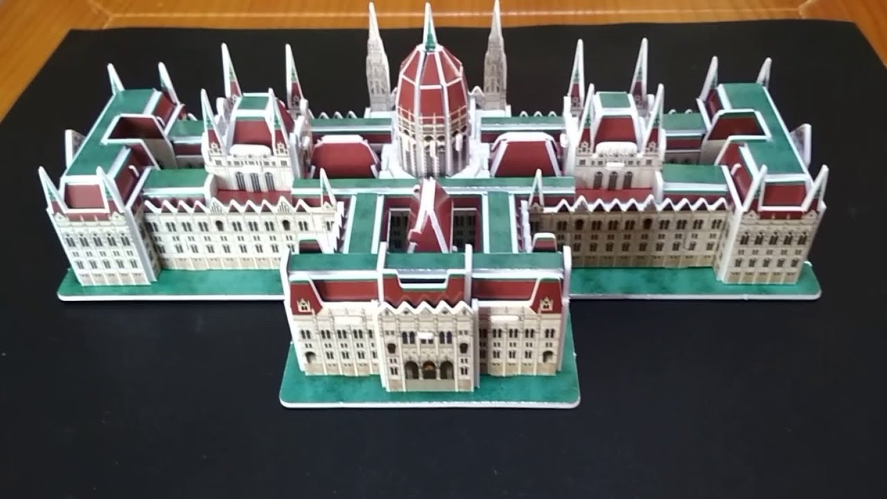 3D Puzzle Ungarn Parlament Budapest Cubic Fun Hungarian Parliament Building