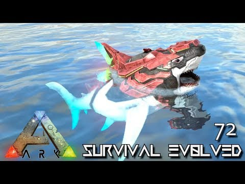 ARK: SURVIVAL EVOLVED - BABY ALPHA TEK MEGALODON E72 !!! ( ARK EXTINCTION CORE MODDED )