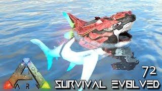 ARK: SURVIVAL EVOLVED - BABY ALPHA TEK MEGALODON E72 !!! ( ARK EXTINCTION CORE MODDED )