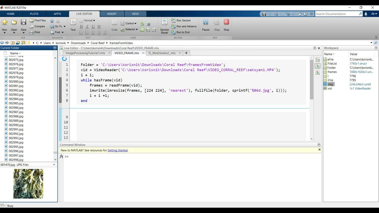 Matlab 2019a || Tutorial 1 || Video Framing using Matlab
