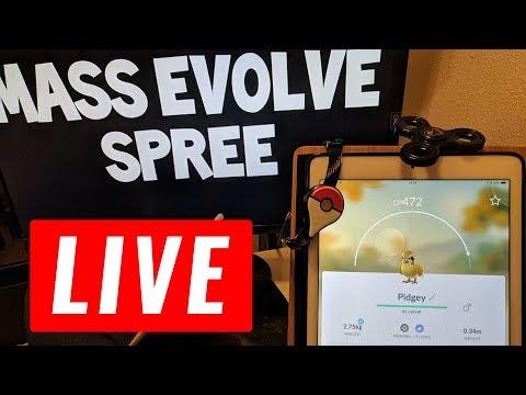 4X XP INSANE EVOLVE SPREE! - Pokémon GO LIVE!