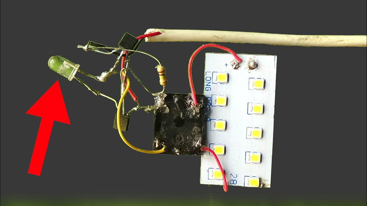 Make street light auto ON OFF circuit without LDR,use simple led ...