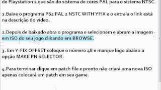Como converter jogos de ps2 pal para ntsc