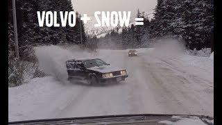 Turbo Volvo + Snowy Mountain Road =