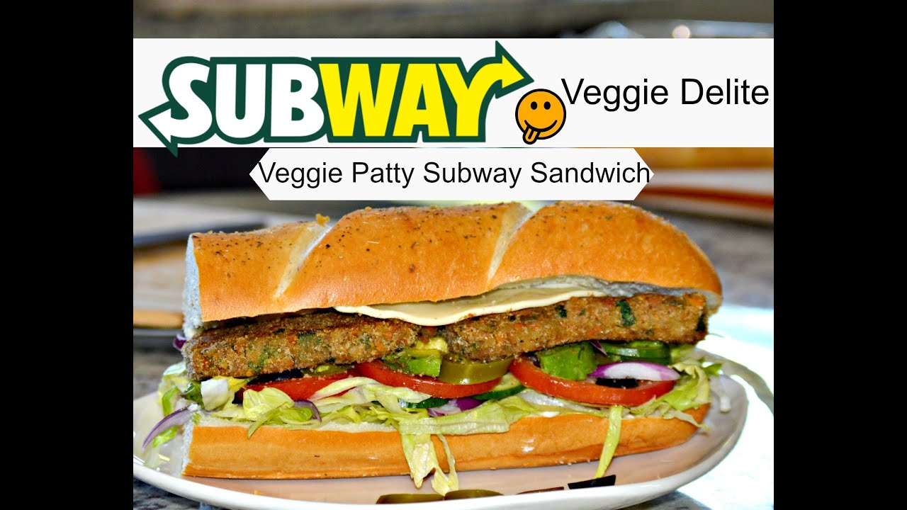 Subway Veggie Patty Sandwich  How To Make A Subway Sandwich  Subway  Veggie Delight