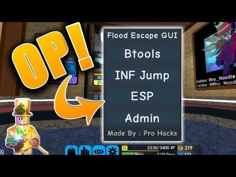 New Roblox Hack Script Flood Escape 2 Inf Jump Btools And