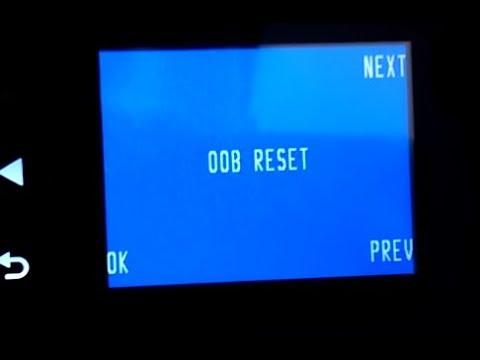 OOB Reset HP 8610 Padrão de Fábrica