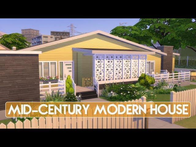 Sims 4 | House Building | Mid-Century Modern House