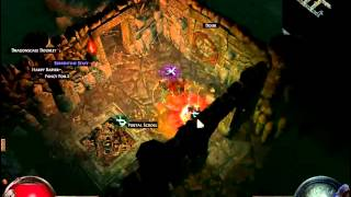 Lets Play Path of Exile - Level68 Maps Teil1, Vaal Pyramid Map (german)