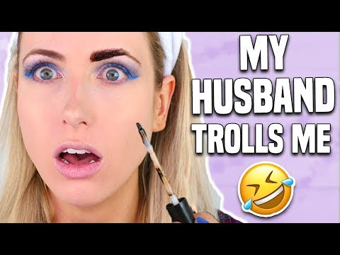 Husband Buys My Makeup & Creates A Tutorial?! || NEW DRUGSTORE MAKEUP TESTED