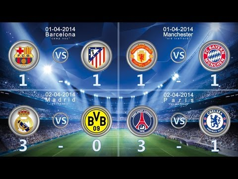 UEFA Champions League 1/4 Final Goals and HighLights - ALL MATCHS