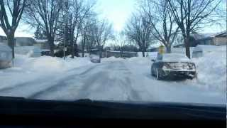 Aftermath of The Major Snowstorm Laval Quebec Canada