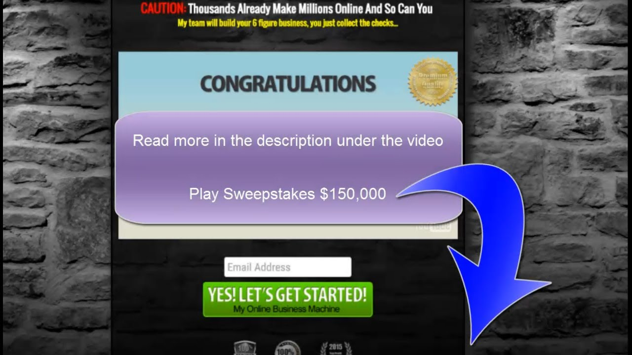 Online sweepstakes instant wins