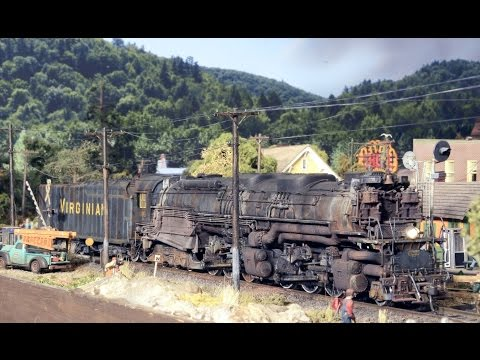 HO Allegheny Blue-Ridge Virginian Steam Locomotive