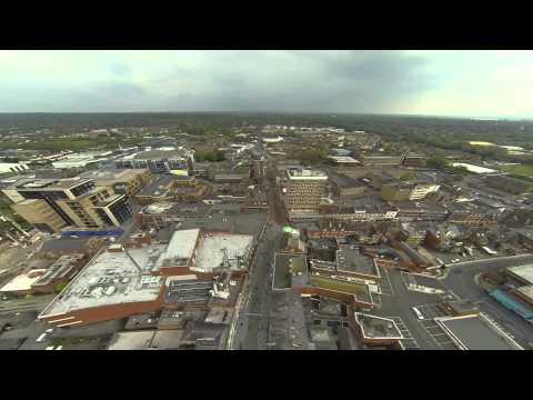 DJI F550 Drone over Maidenhead Town Center
