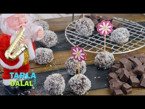 Chocolatey Snowballs/ Christmas Recipe/ Easy To Make Kids Party Chocolate By Tarla Dalal