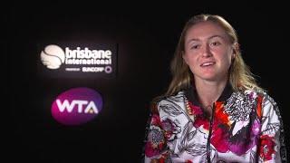 Aliaksandra Sasnovich post match interview (QF) | Brisbane International 2018