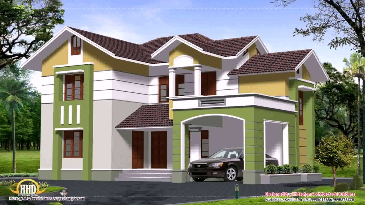 2000 sq ft house plans 2 story kerala style youtube for 2000 sq ft house plans 2 story