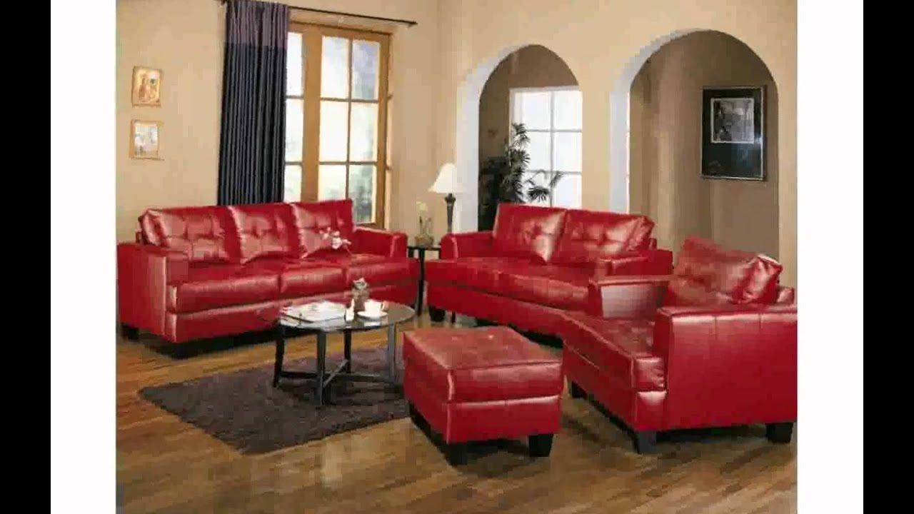 Living room decorating ideas with red couch youtube - How to decorate a single room ...