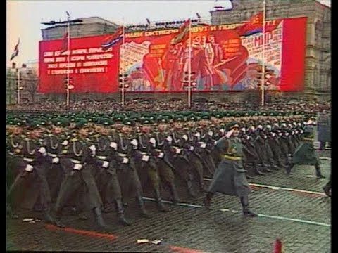 HD Soviet October Revolution Parade, 1985 Part I Парад 7 Ноября