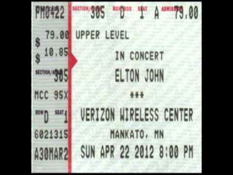 Elton John, Rocket Man @ The Verizon Wireless Center, Mankato, MN