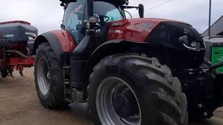 CaseIH Optum 300cvx and HORSCH Focus 4TD in action planting beans