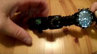 Survival Bracelet Watch, Men & Women Emergency Survival Watch (product review)