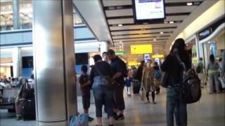 London Heathrow Airport Termianl 5 view and Walkthrough departure gates