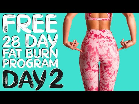 DAY 2 | FREE 28 DAY WORKOUT CHALLENGE | Booty Lift & Sculpt (with Band) Timer Included