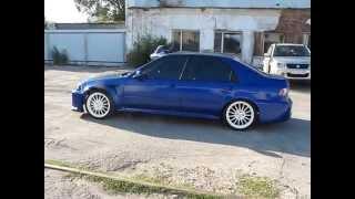 Honda Civic 1993 синяя с блестками